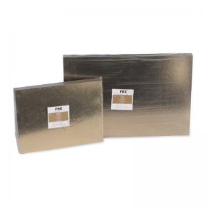 supports pâtisserie plaques or et noir