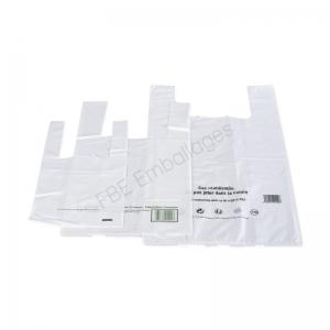 sacs réutilisables plastique blanc