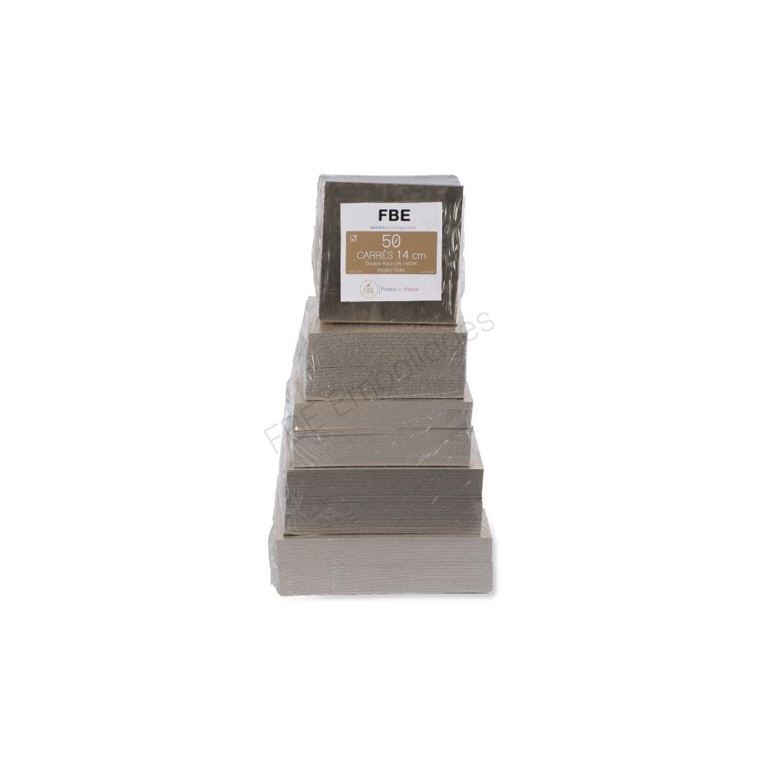 supports carrés or pâtisseries