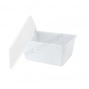 Barquette Cartybox opaque blanc avec couvercle