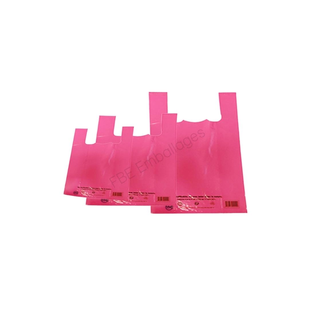 sacs réutilisables rose